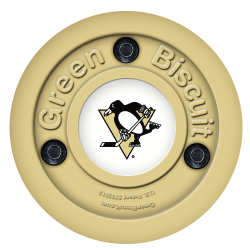 Treninkový puk Green Biscuit NHL - Pittsburgh Penguins